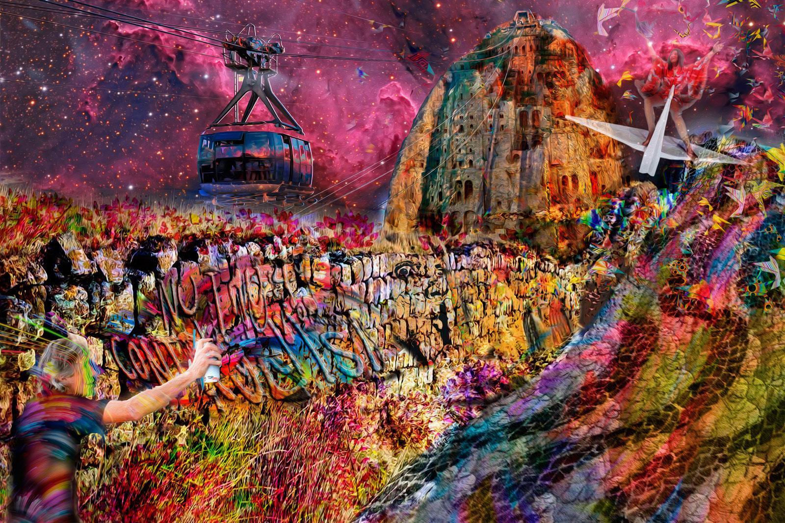 Tela Rio Wall - Artista Plástico e Psicanalista Henrique Vieira Filho