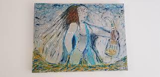 Artwork: Orixá Nanã - Artist: Henrique Vieira Filho Mixed technique - 23 x 31,5 inches African Mythology - Female Archetype - Great Mother - Mother Goddess - Goddess of wisdom, death and rebirth, rain and clay. - Artist's gift to his wife, Fabiana Vieira Deusa da sabedoria, da morte e renascimento, da chuva e do barro Presente do Artista para sua esposa, Fabiana Vieira